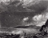 "Гравюра. Дж. Констебл - Лукас. ""Уэймут Бэй"". До 1840 года. (35,4 на 26,8 см). Оригинал. фото 1"