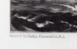 "Гравюра. Дж. Констебл - Лукас. ""Уэймут Бэй"". До 1840 года. (35,4 на 26,8 см). Оригинал. фото 4"