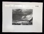 "Гравюра. Дж. Констебл - Лукас. ""Уэймут Бэй"". До 1840 года. (35,4 на 26,8 см). Оригинал. фото 8"