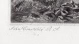 """Гравюра. Дж. Констебл - Лукас. """"Хэмпстед-Хит."""". До 1840 года. (42,8 на 29 см). Оригинал. фото 4"""