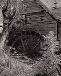 "Гравюра. Дж. Констебл - Лукас. ""Мельница."". До 1840 года. (42,8 на 29 см). Оригинал. фото 2"