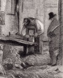 "Гравюра. Дж. Констебл - Лукас. ""Мельница."". До 1840 года. (42,8 на 29 см). Оригинал. фото 3"