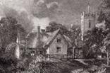 "Гравюра. Дж. Констебл - Лукас. ""Ферма Глеба"". До 1840 года. (42,8 на 29 см). Оригинал. фото 2"