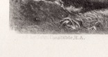 "Гравюра. Дж. Констебл - Лукас. ""Ферма Глеба"". До 1840 года. (42,8 на 29 см). Оригинал. фото 4"