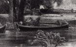 "Гравюра. Дж. Констебл - Лукас. ""Река Стаур"". До 1840 года. (42,8 на 29 см). Оригинал. фото 2"