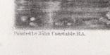 "Гравюра. Дж. Констебл - Лукас. ""Река Стаур"". До 1840 года. (42,8 на 29 см). Оригинал. фото 4"