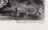 "Гравюра. Дж. Констебл - Лукас. ""Река Стаур"". До 1840 года. (42,8 на 29 см). Оригинал. фото 6"