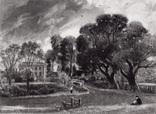 """Гравюра. Дж. Констебл - Лукас. """"Бергхольт"""". До 1840 года. (42,8 на 29 см). Оригинал."""