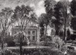 """Гравюра. Дж. Констебл - Лукас. """"Бергхольт"""". До 1840 года. (42,8 на 29 см). Оригинал. фото 2"""