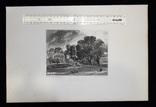 """Гравюра. Дж. Констебл - Лукас. """"Бергхольт"""". До 1840 года. (42,8 на 29 см). Оригинал. фото 8"""