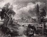 "Гравюра. Дж. Констебл - Лукас. ""Замок на Стоуре"". До 1840 года. (42,8 на 29 см). Оригинал."