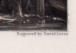 """Гравюра. Дж. Констебл - Лукас. """"Замок на Стоуре"""". До 1840 года. (42,8 на 29 см). Оригинал. фото 6"""