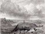 """Гравюра. Дж. Констебл - Лукас. """"Хэмпстед-Хит"""". До 1840 года. (42,8 на 29 см). Оригинал."""