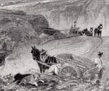 """Гравюра. Дж. Констебл - Лукас. """"Хэмпстед-Хит"""". До 1840 года. (42,8 на 29 см). Оригинал. фото 2"""