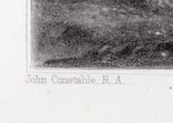 """Гравюра. Дж. Констебл - Лукас. """"Хэмпстед-Хит"""". До 1840 года. (42,8 на 29 см). Оригинал. фото 4"""