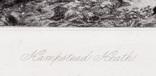 """Гравюра. Дж. Констебл - Лукас. """"Хэмпстед-Хит"""". До 1840 года. (42,8 на 29 см). Оригинал. фото 5"""