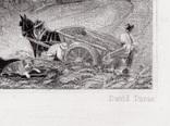 """Гравюра. Дж. Констебл - Лукас. """"Хэмпстед-Хит"""". До 1840 года. (42,8 на 29 см). Оригинал. фото 6"""