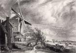 """Гравюра. Дж. Констебл - Лукас. """"Гольчестер"""". До 1840 года. (42,8 на 29 см). Оригинал."""