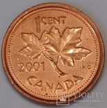 Канада 1 цент, 2001