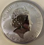 10 $ 2019 года Англия «Единорог» серебро 311 грамм 999,9', фото №3