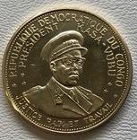 100 франков 1965 год Конго золото 32,25 грамм 900', фото №3