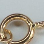 Золотая подвеска с натуральными хромдиобсидами и бриллиантами, фото №5