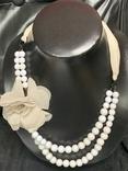 Винтажное двохрядное коль с Англии с цветочком, фото №2