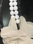 Винтажное двохрядное коль с Англии с цветочком, фото №4