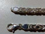 Цепочка лисий хвост новая серебро 925, фото №3