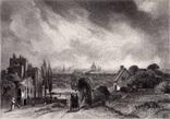 """Гравюра. Дж. Констебл - Лукас. """"Рич Стилс"""". До 1840 года. (42,8 на 29 см). Оригинал."""
