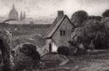 """Гравюра. Дж. Констебл - Лукас. """"Рич Стилс"""". До 1840 года. (42,8 на 29 см). Оригинал. фото 3"""
