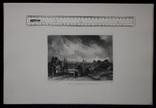 """Гравюра. Дж. Констебл - Лукас. """"Рич Стилс"""". До 1840 года. (42,8 на 29 см). Оригинал. фото 8"""