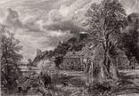 "Гравюра. Дж. Констебл - Лукас. ""Арундел"". До 1840 года. (42,8 на 29 см). Оригинал."