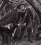 """Гравюра. Дж. Констебл - Лукас. """"Раненый олень"""". До 1840 года. (42,8 на 29 см). Оригинал. фото 3"""