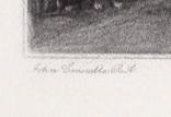 """Гравюра. Дж. Констебл - Лукас. """"Раненый олень"""". До 1840 года. (42,8 на 29 см). Оригинал. фото 4"""