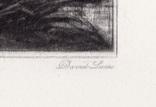 """Гравюра. Дж. Констебл - Лукас. """"Раненый олень"""". До 1840 года. (42,8 на 29 см). Оригинал. фото 6"""