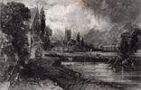 "Гравюра. Дж. Констебл - Лукас. ""Мельница"". До 1840 года. (42,8 на 29 см). Оригинал."