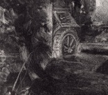 "Гравюра. Дж. Констебл - Лукас. ""Мельница"". До 1840 года. (42,8 на 29 см). Оригинал. фото 2"