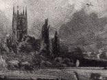 "Гравюра. Дж. Констебл - Лукас. ""Мельница"". До 1840 года. (42,8 на 29 см). Оригинал. фото 3"