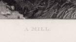 "Гравюра. Дж. Констебл - Лукас. ""Мельница"". До 1840 года. (42,8 на 29 см). Оригинал. фото 5"