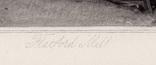 "Гравюра. Дж. Констебл - Лукас. ""Флэтфордская мельница"". До 1840 года. (42,8 на 29 см). фото 5"