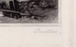 "Гравюра. Дж. Констебл - Лукас. ""Флэтфордская мельница"". До 1840 года. (42,8 на 29 см). фото 6"
