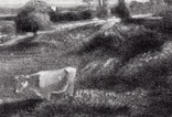"""Гравюра. Дж. Констебл - Лукас. """"Летний вечер"""". До 1840 года. (42,8 на 29 см). Оригинал. фото 2"""