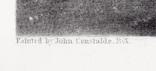 """Гравюра. Дж. Констебл - Лукас. """"Летний вечер"""". До 1840 года. (42,8 на 29 см). Оригинал. фото 4"""