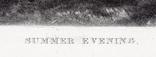 """Гравюра. Дж. Констебл - Лукас. """"Летний вечер"""". До 1840 года. (42,8 на 29 см). Оригинал. фото 5"""