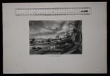 """Гравюра. Дж. Констебл - Лукас. """"Летний вечер"""". До 1840 года. (42,8 на 29 см). Оригинал. фото 8"""