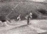 """Гравюра. Дж. Констебл - Лукас. """"Осенний закат"""". До 1840 года. (42,8 на 29 см). Оригинал. фото 3"""