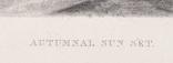 """Гравюра. Дж. Констебл - Лукас. """"Осенний закат"""". До 1840 года. (42,8 на 29 см). Оригинал. фото 5"""