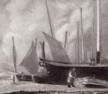 """Гравюра. Дж. Констебл - Лукас. """" Морской пляж"""". До 1840 года. (42,8 на 29 см). Оригинал. фото 2"""