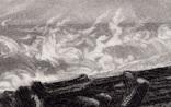 """Гравюра. Дж. Констебл - Лукас. """" Морской пляж"""". До 1840 года. (42,8 на 29 см). Оригинал. фото 3"""